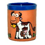 Clay cups - cow