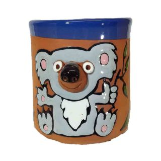 Clay cups animal motifs Koala