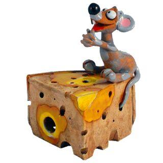 Räucherfigur - Maus und Käse