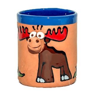 Ceramic cup - Animals motifs Elk