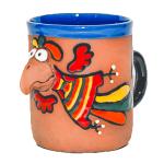 Ceramic cup - Animals motifs Parrot