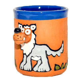 Clay cups - wolf
