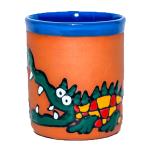 Clay cups - crocodile